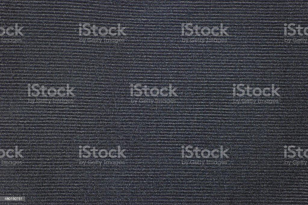Black Detailed Corduroy Texture Background, Horizontal Pattern Macro Closeup stock photo