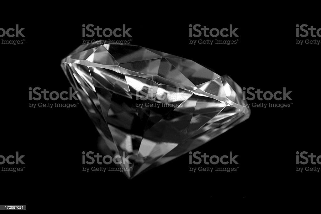 Black diamond stock photo