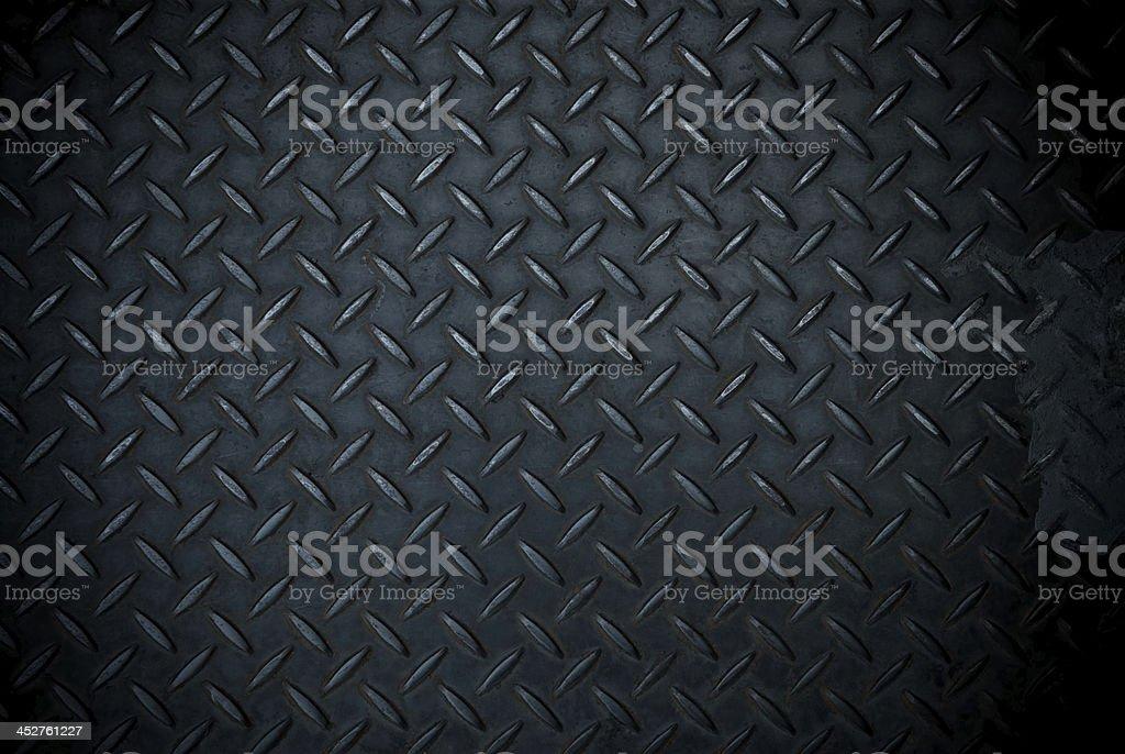 black diamond steel plate stock photo