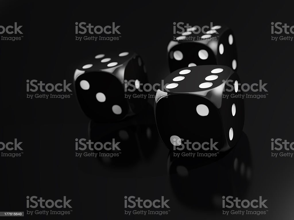 Black Dice Game royalty-free stock photo
