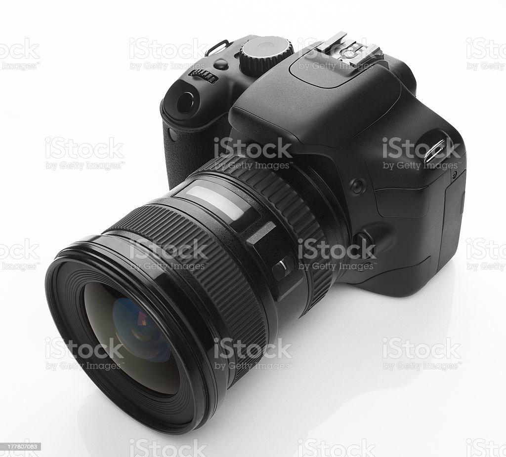 Black digital camera royalty-free stock photo