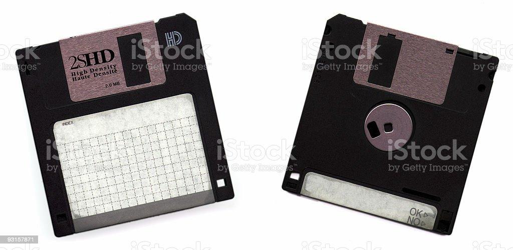Black Diskettes royalty-free stock photo