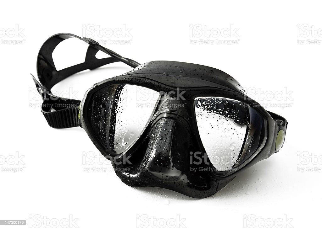Black diving mask stock photo