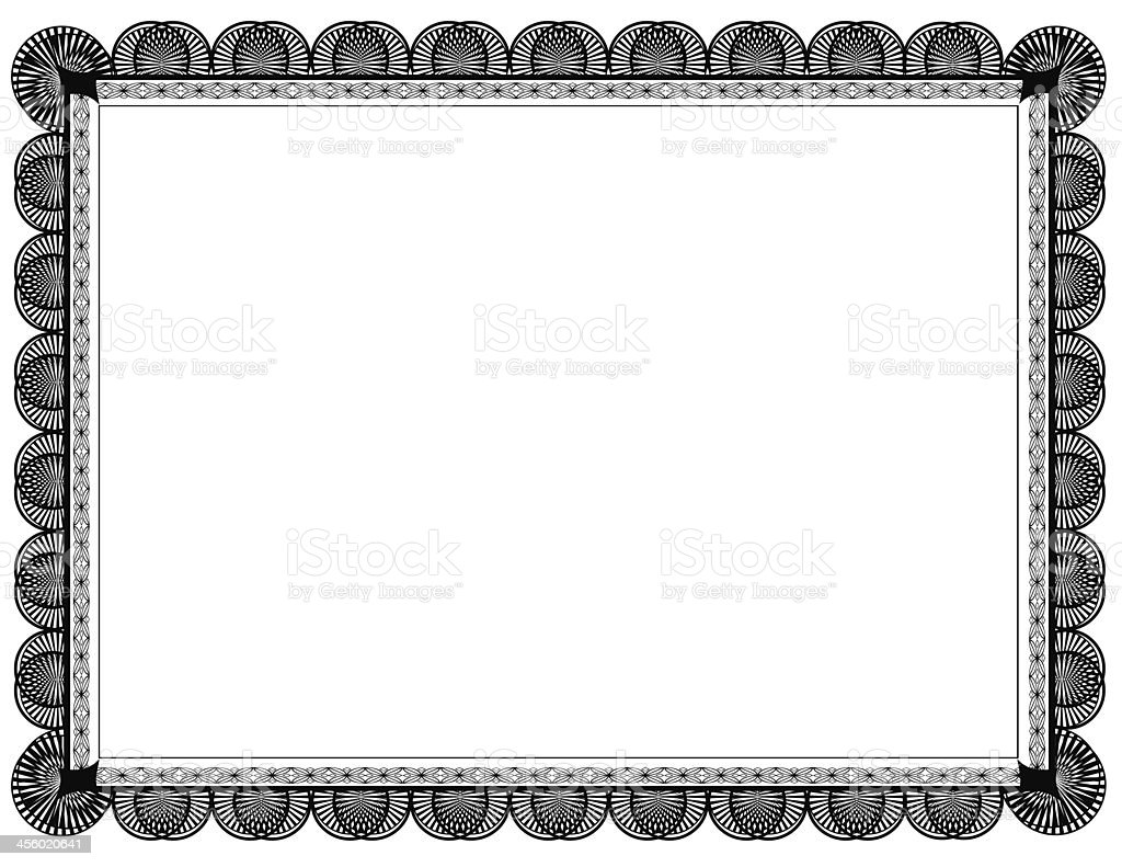 Black Document Frame 8.5 x 11 stock photo