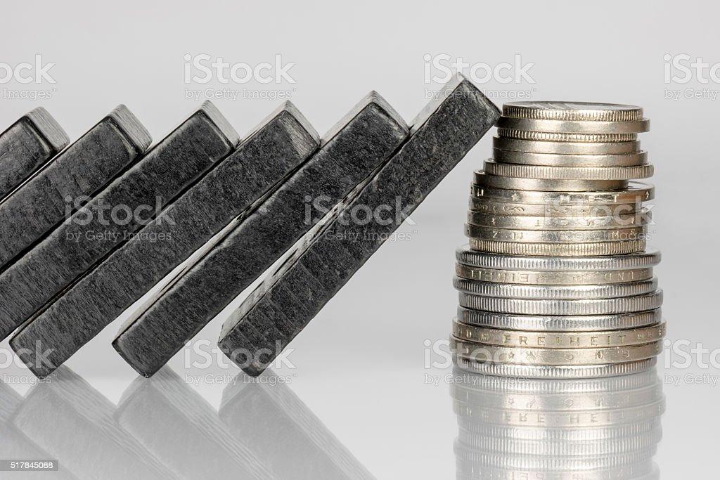Black Domino bricks stock photo