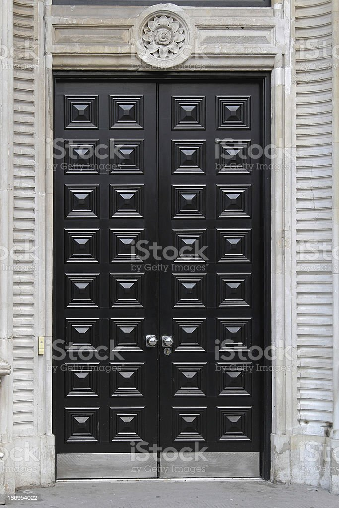 Black door stock photo