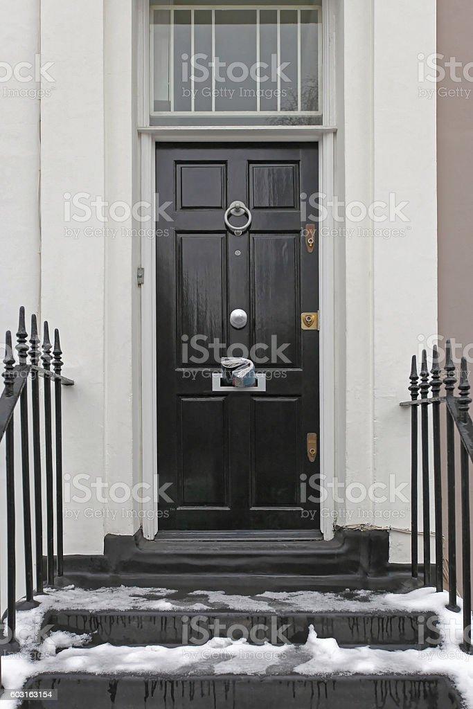 Black Door stock photo