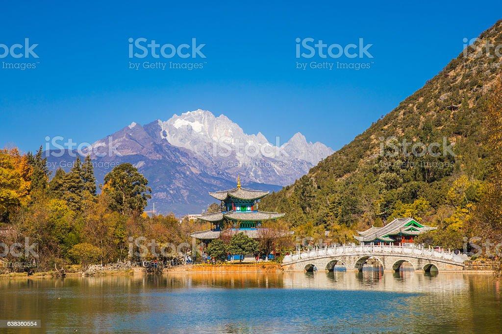 Black Dragon Pool, Lijiang,Yunnan stock photo
