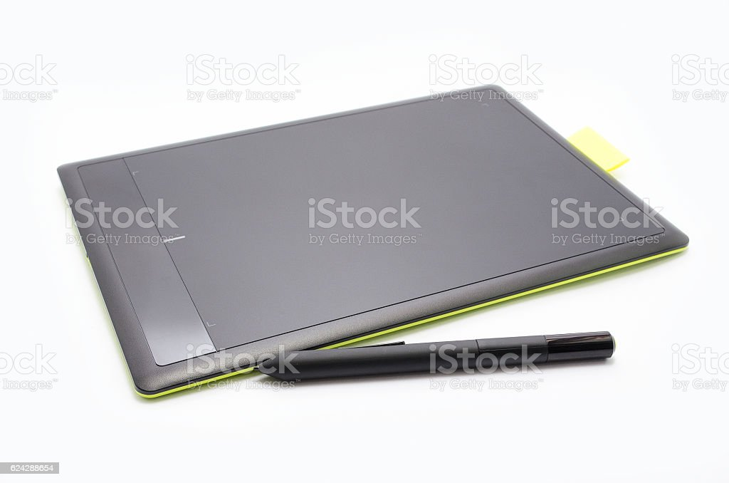 Black drawing graphic tablet isolated royalty-free stock photo