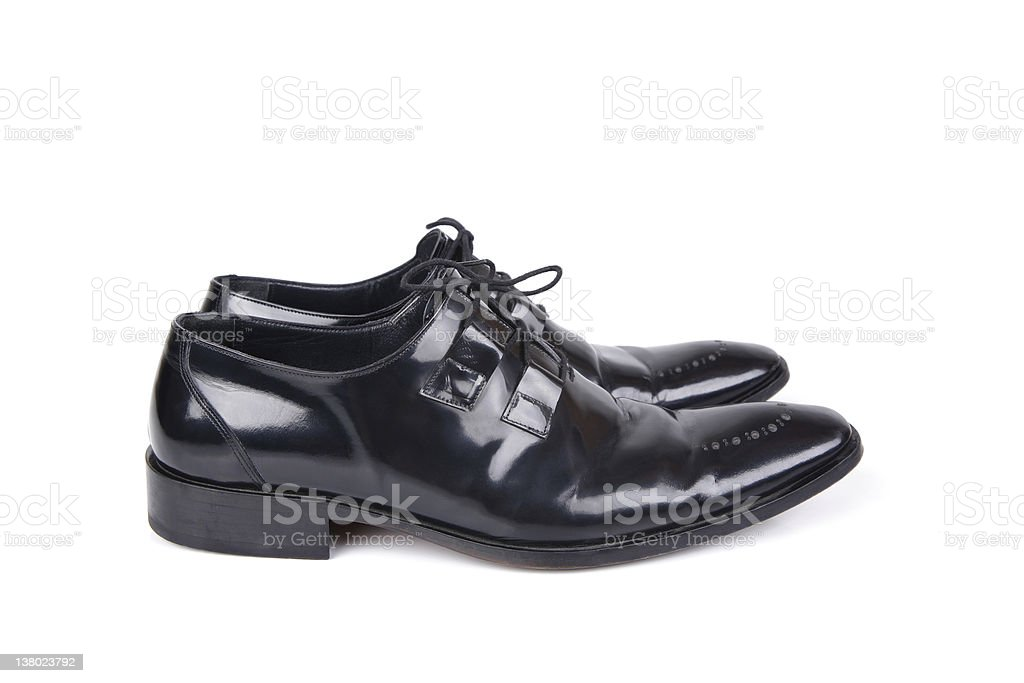 Black Dress Shoes Series royalty-free stock photo