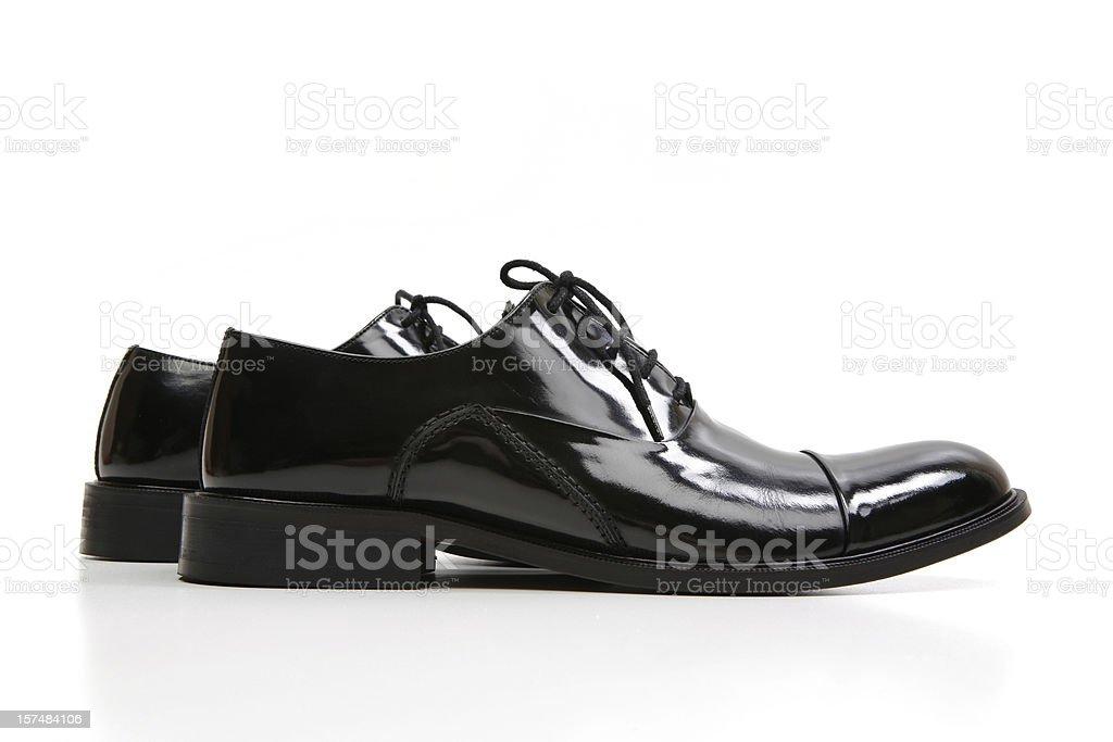 Black Dress Shoes Series royalty-free stock photo