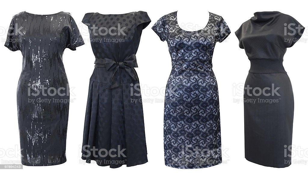 black dresses set royalty-free stock photo