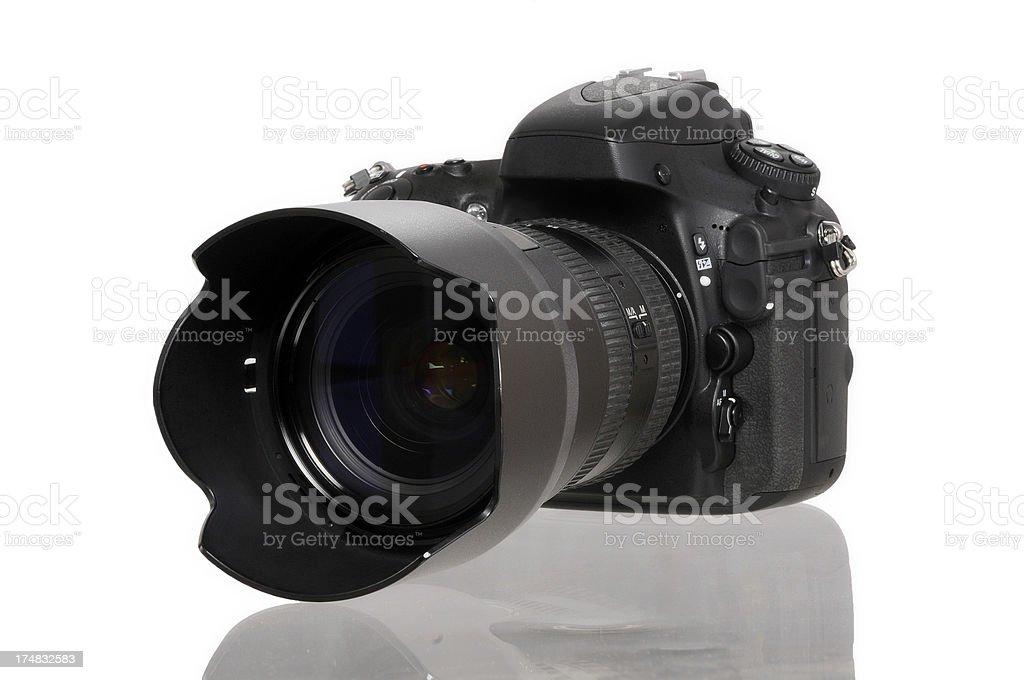 Black DSLR camera royalty-free stock photo