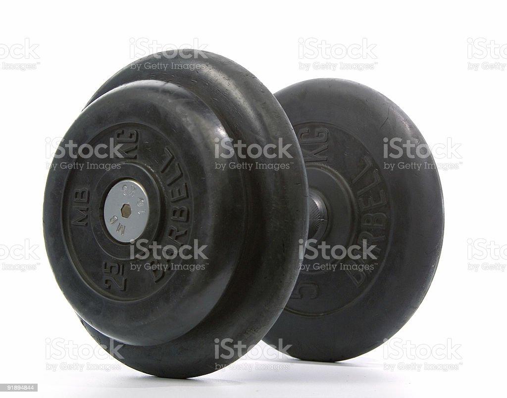Black dumbbell stock photo