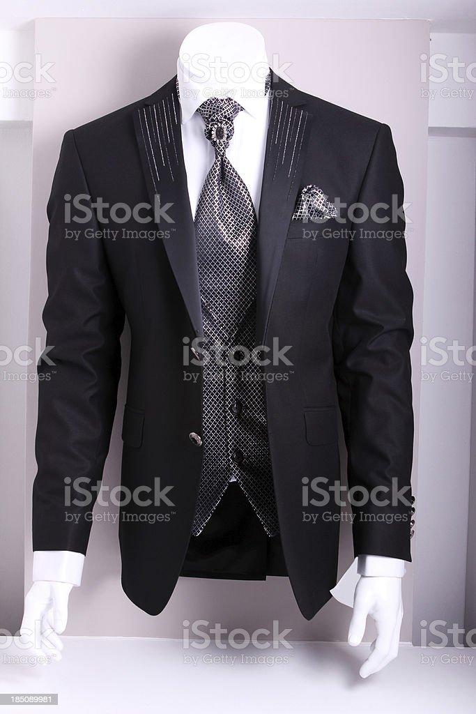 Black Elegant Suit stock photo