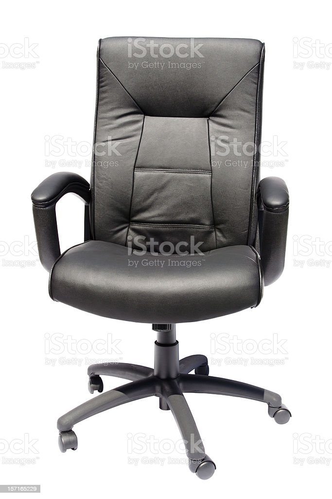 black executive leather chair royalty-free stock photo