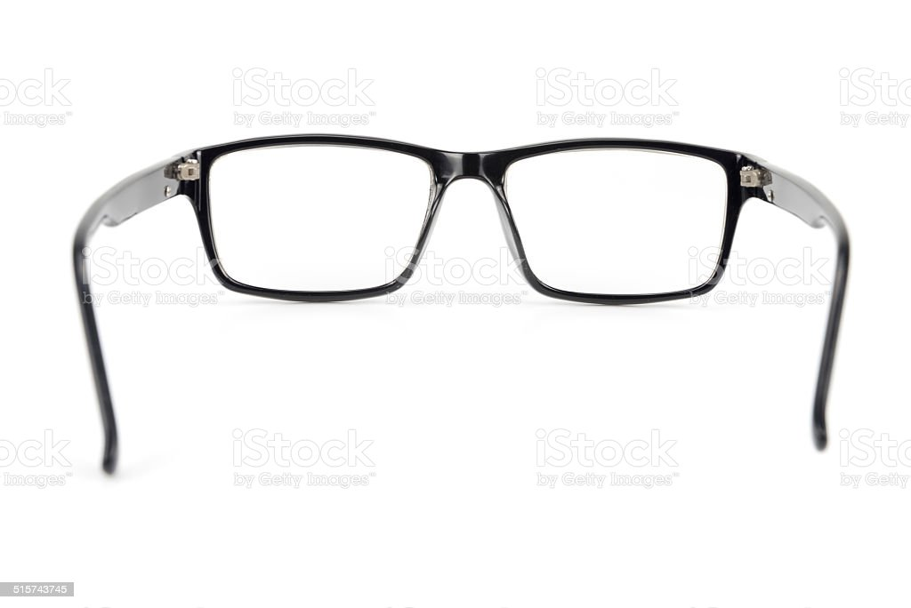 Black Eye Glasses look a bit nerd style Isolated White stock photo