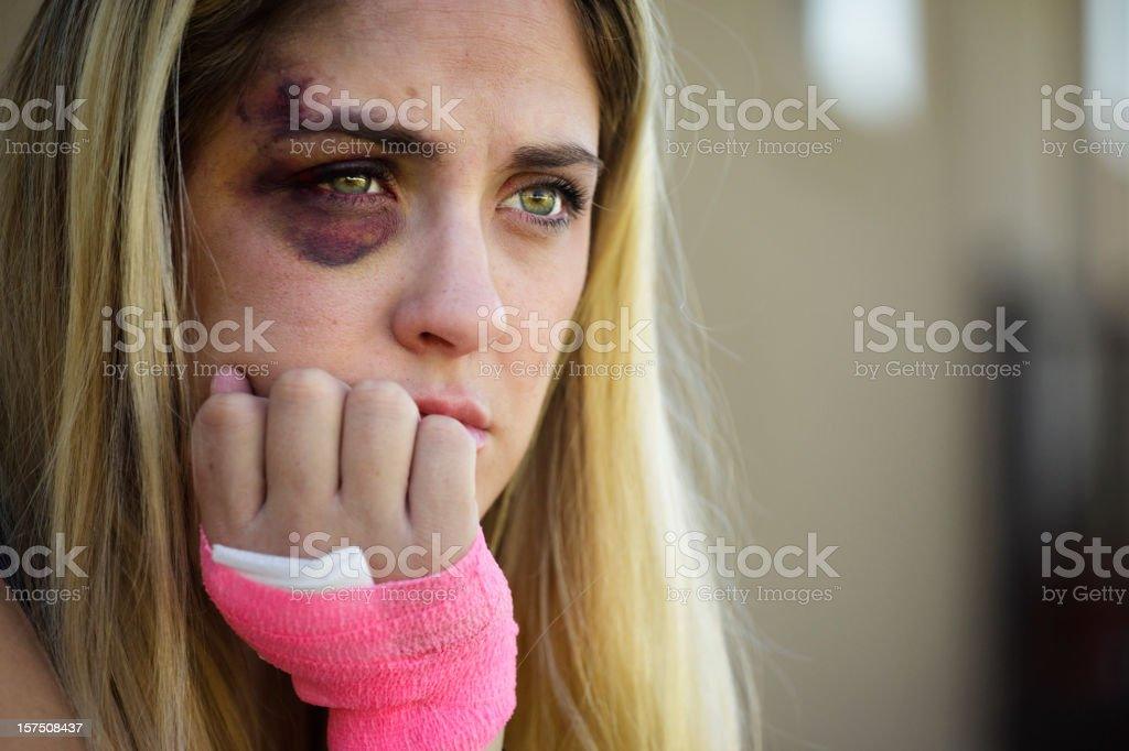 Black Eyed Woman royalty-free stock photo
