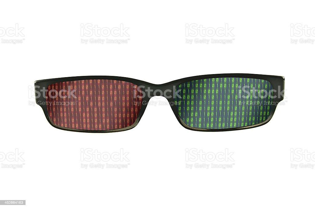 black eyeglasses frames isolated royalty-free stock photo