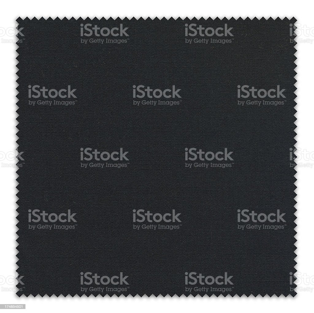 Black Fabric Swatch royalty-free stock photo
