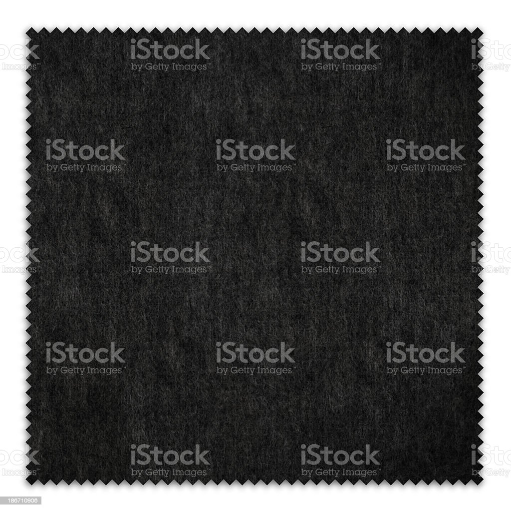 Black Fabric Swatch (Clipping Path) royalty-free stock photo