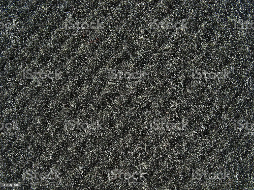 Black fabric texture - thick woolen cloth stock photo