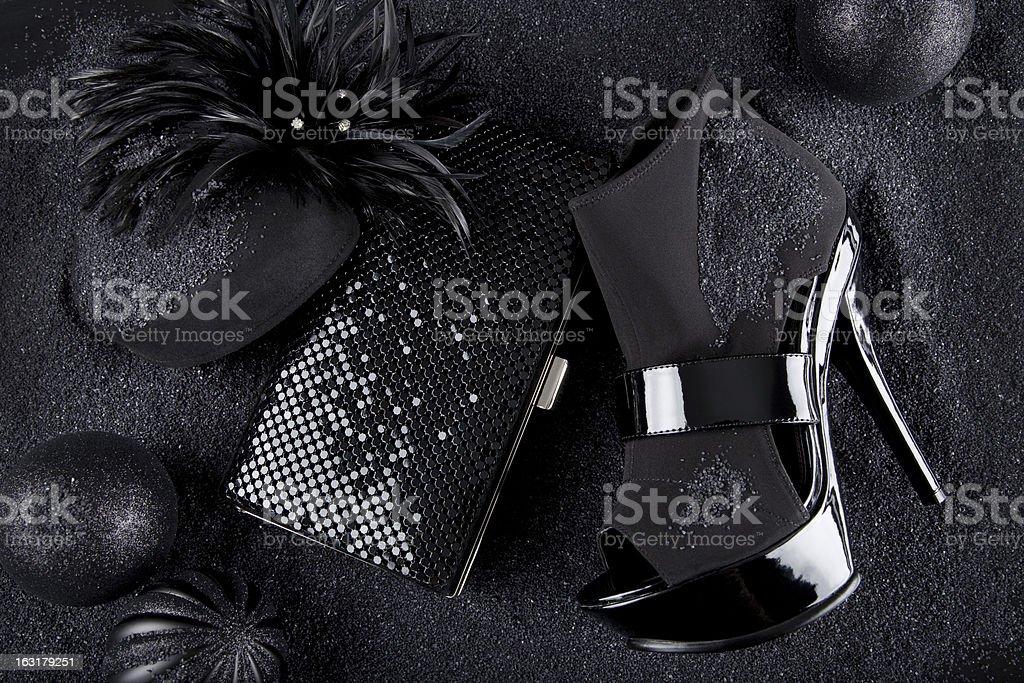 Black Fashion Accessories stock photo