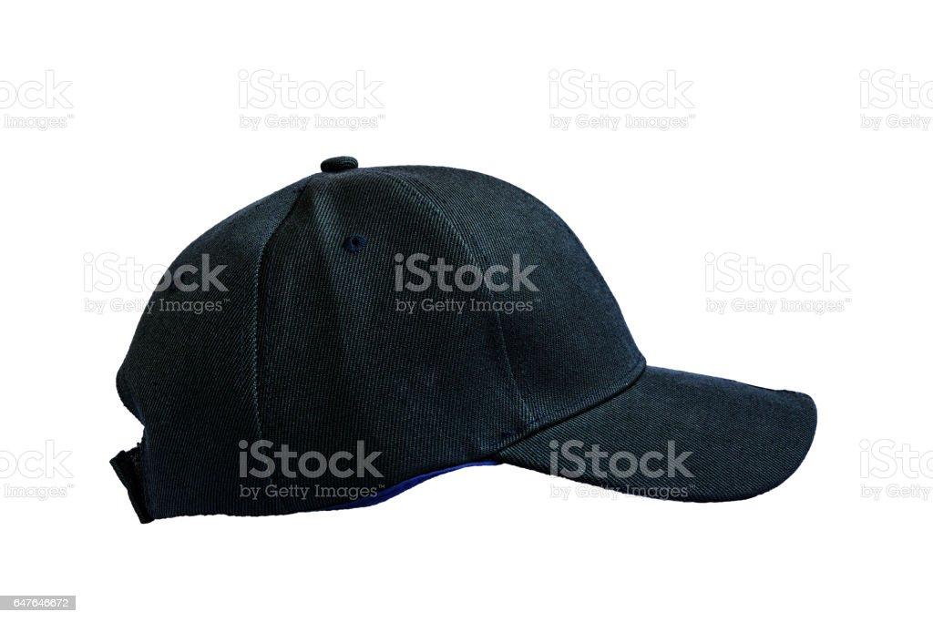 Black fashion cap isolated stock photo