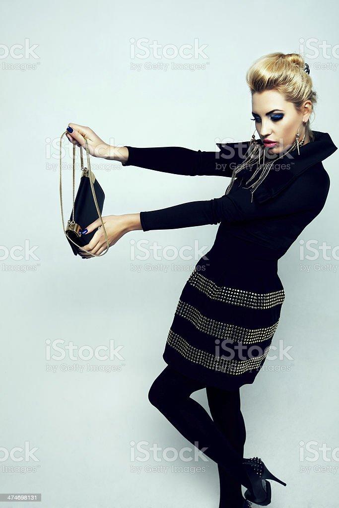 Black fashion royalty-free stock photo