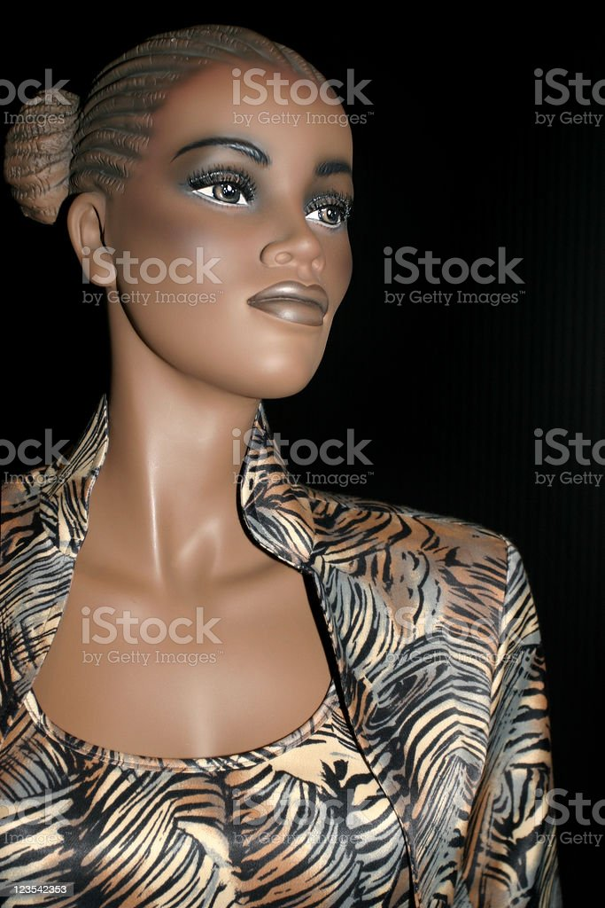 Black female mannequin royalty-free stock photo
