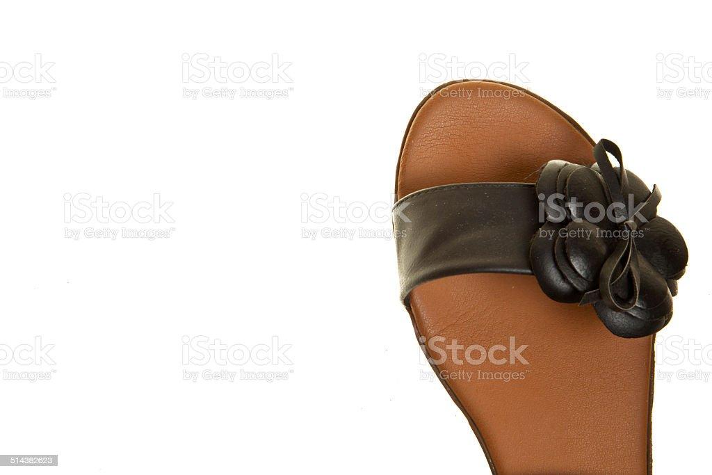 Черная женщина обувь Стоковые фото Стоковая фотография
