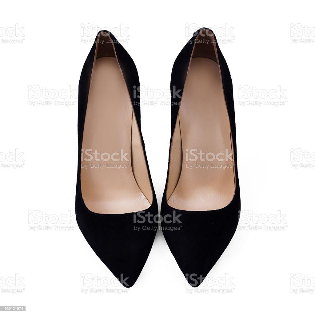 black female shoes stock photo