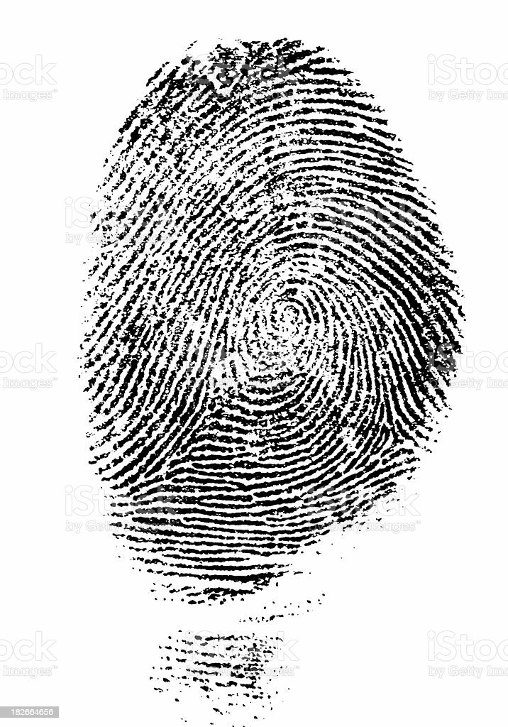 Black Fingerprint - Hi Res stock photo
