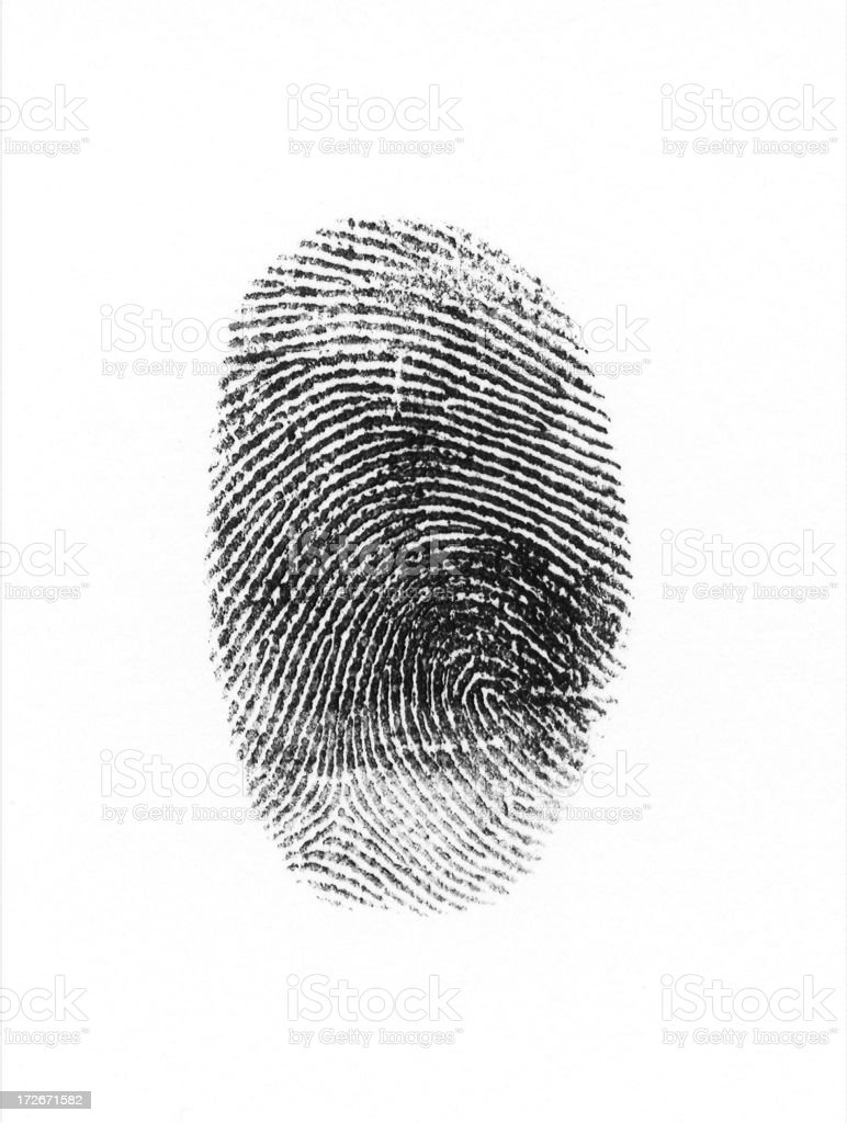 Black fingerprint royalty-free stock photo
