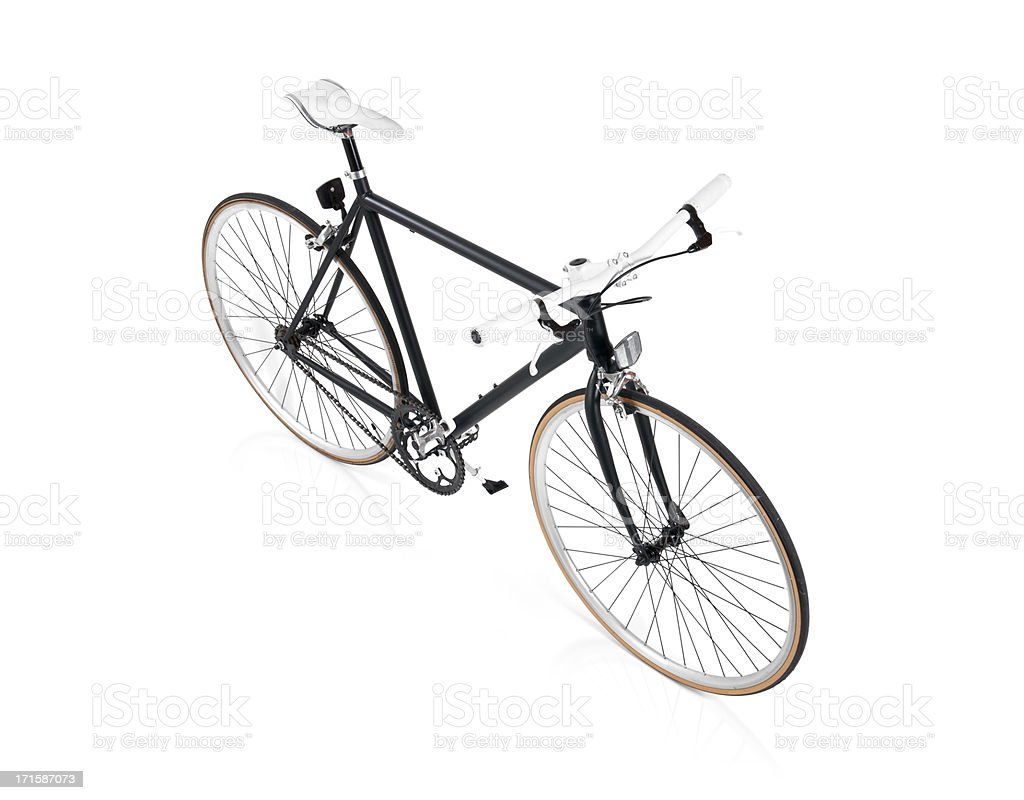 Black Fixie Bicycle Top View royalty-free stock photo