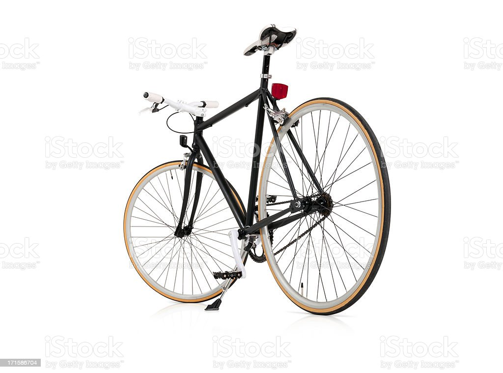 Black Fixie Bicycle with Full Clipping Path royalty-free stock photo