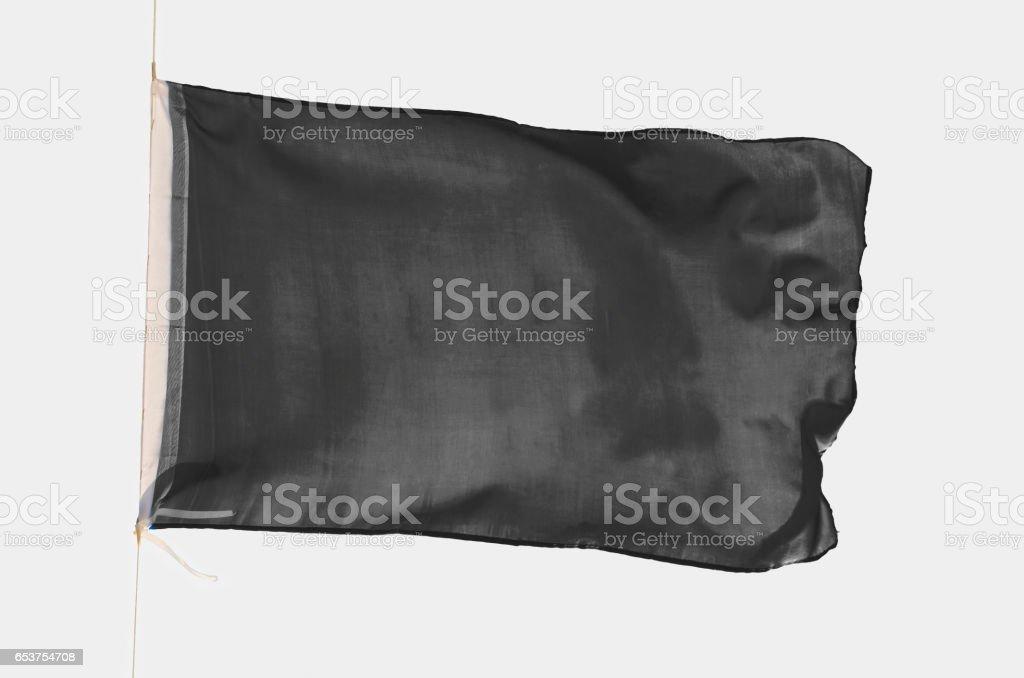 Black flag isolated stock photo