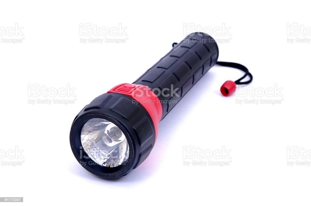 Black Flashlight stock photo