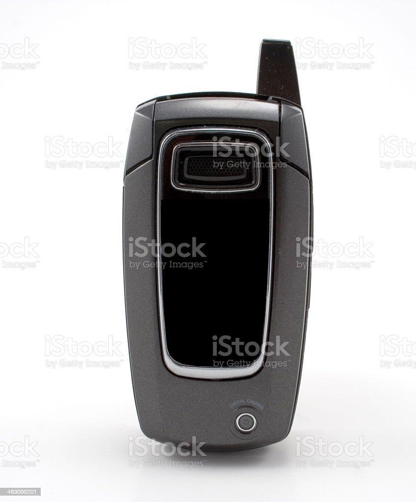 Black Flip Phone Closed stock photo