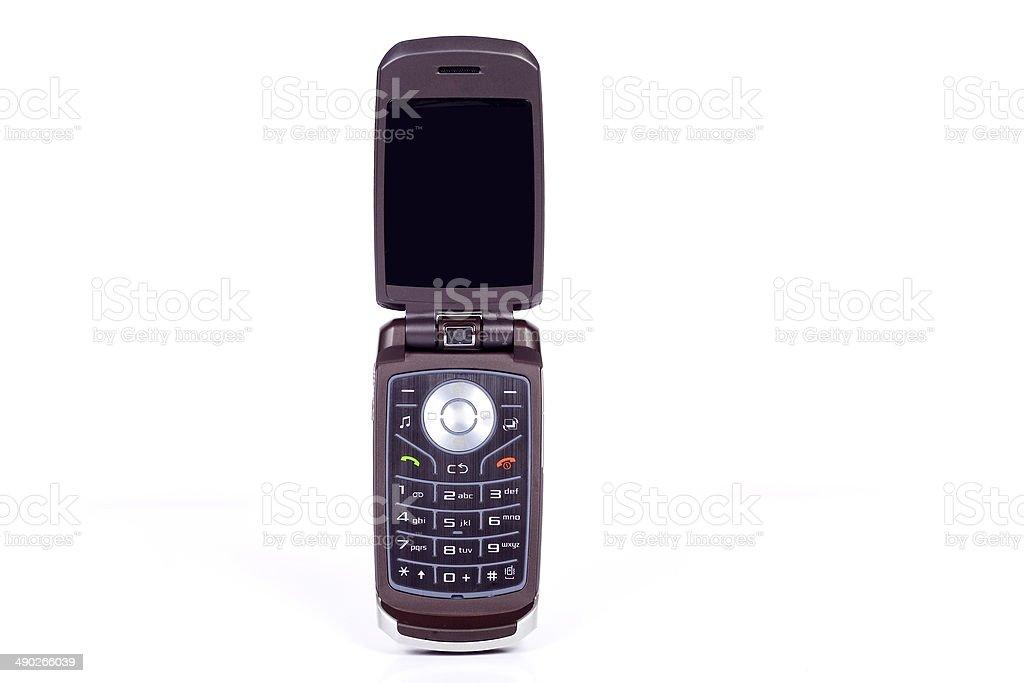 Black Flip Phone Open stock photo