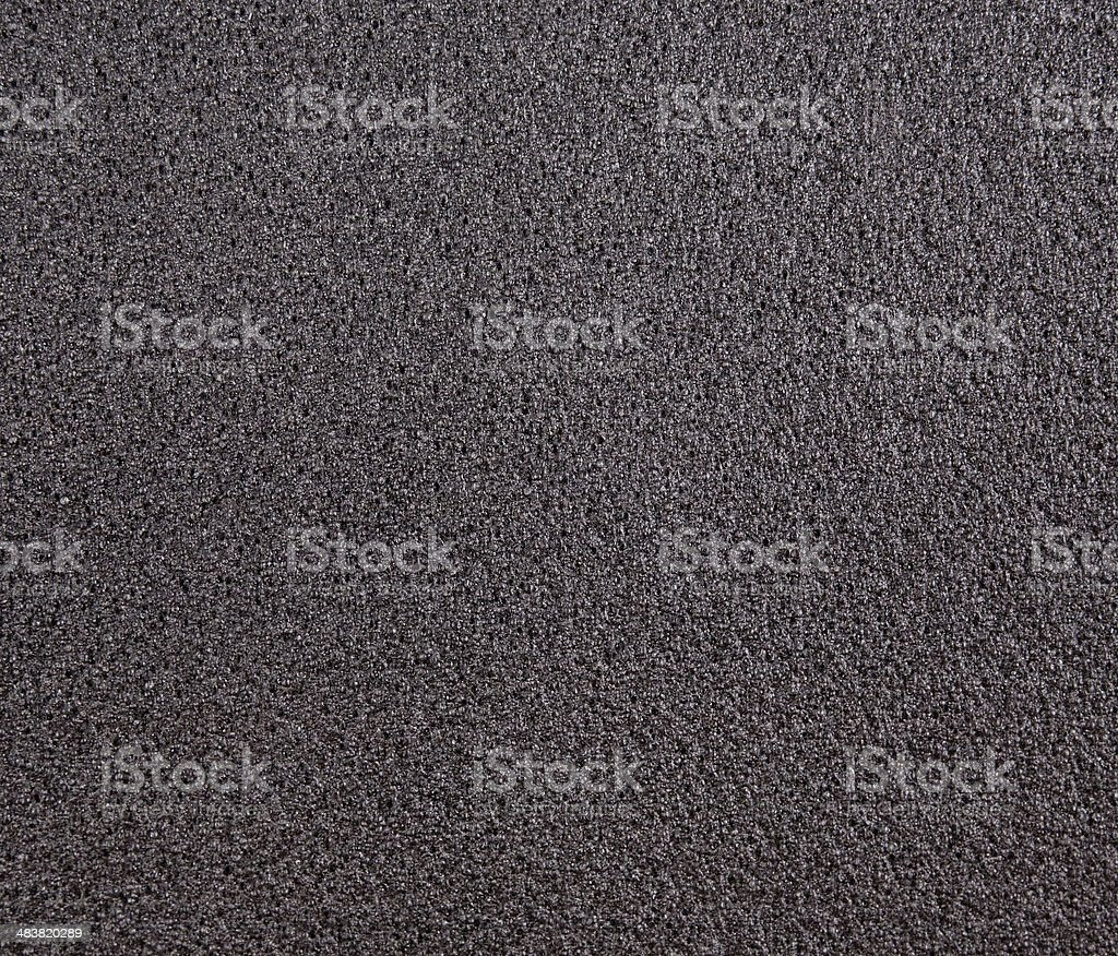 Black foam rubber stock photo