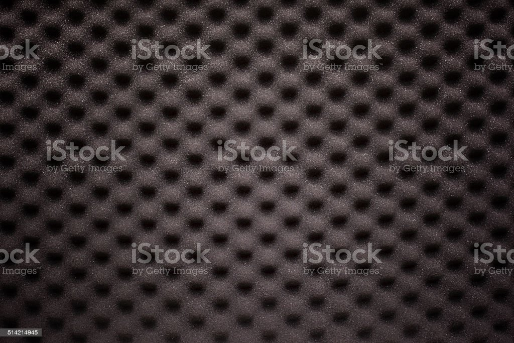 Black foam with wave texture stock photo