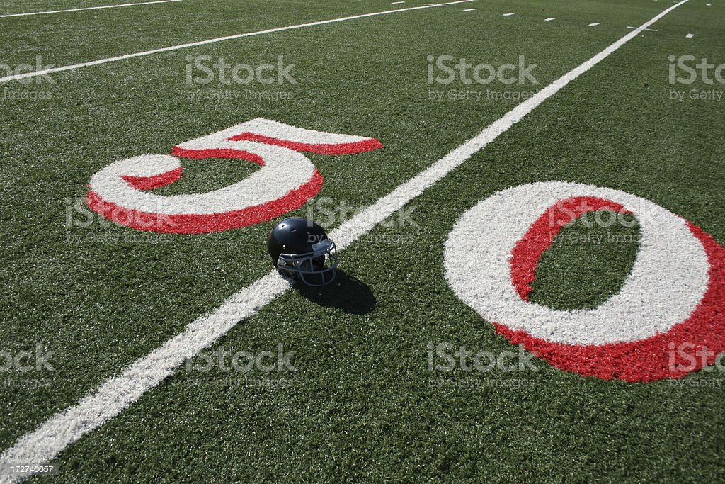 Black football helmet royalty-free stock photo