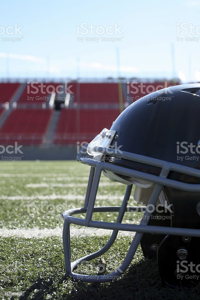 Black football helmet royalty-free stock photo