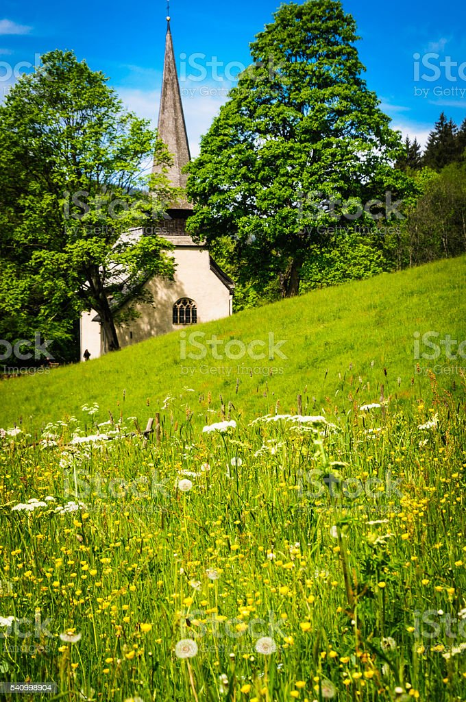 Black Forest Chapel stock photo