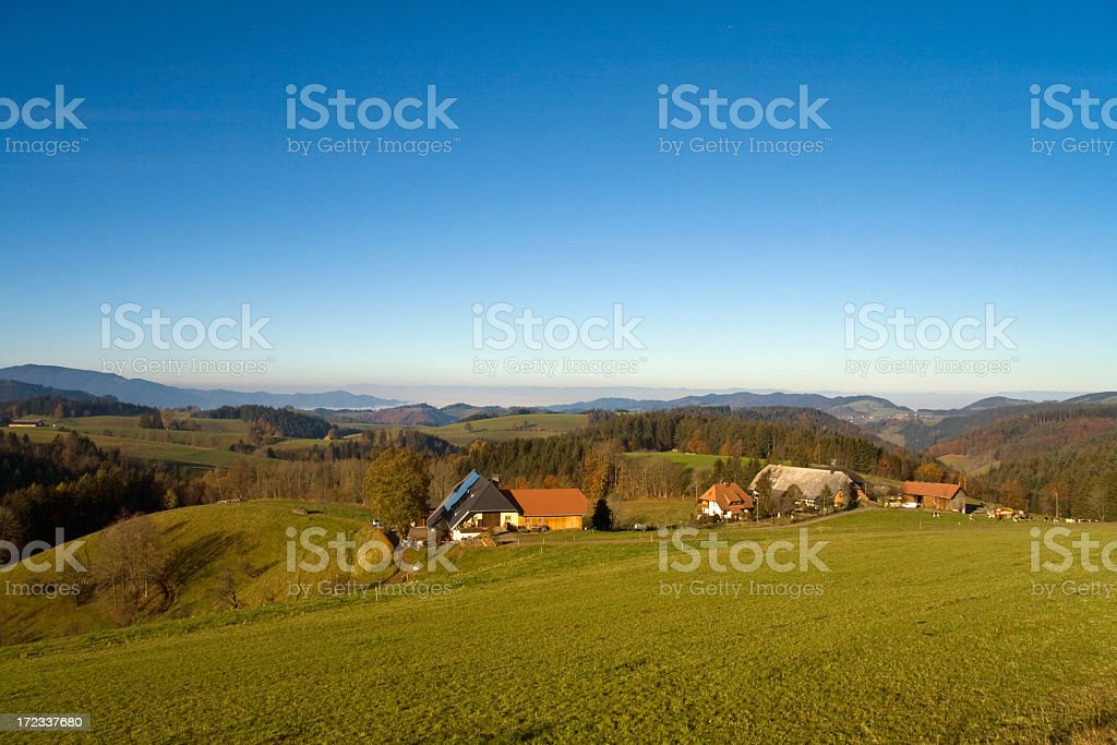 black forest farm royalty-free stock photo