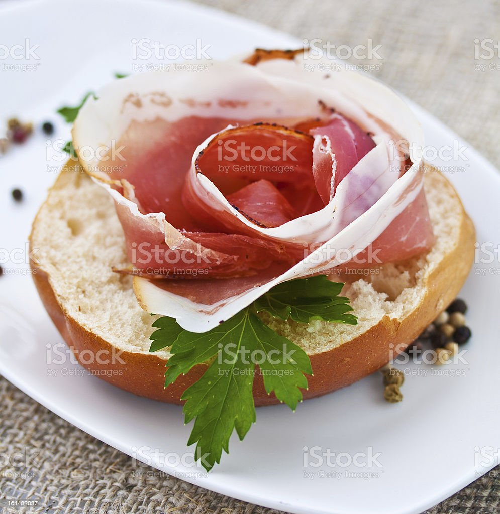 Black Forest Ham royalty-free stock photo