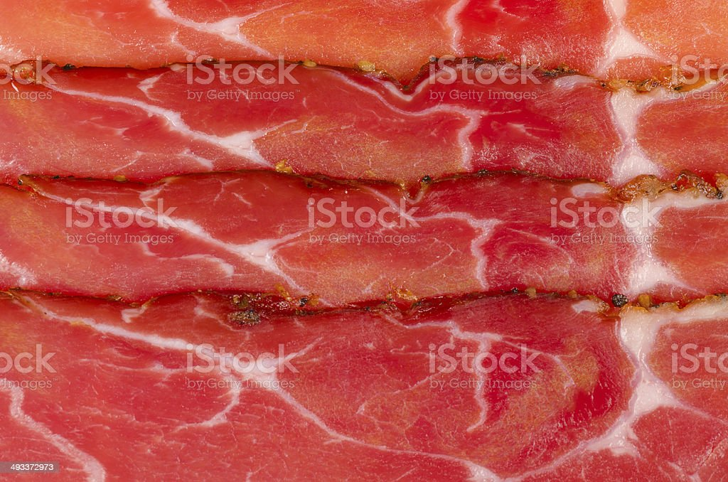 Black forest ham stock photo
