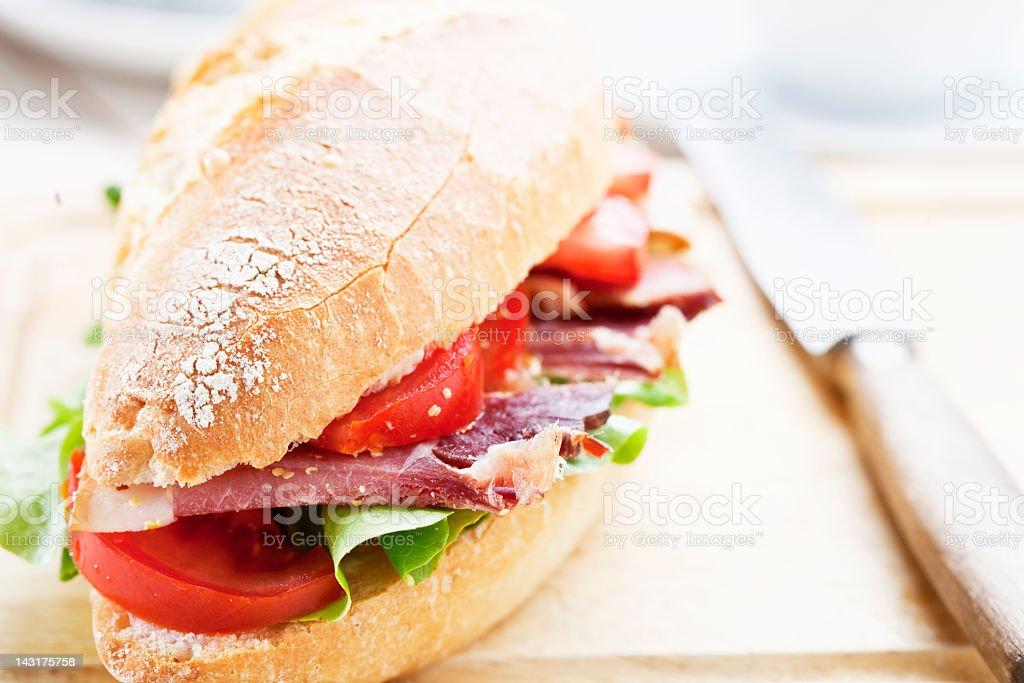 black forest ham sandwich royalty-free stock photo