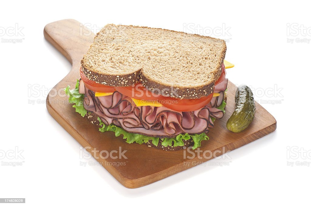 Black Forest Ham Sandwich royalty-free stock photo